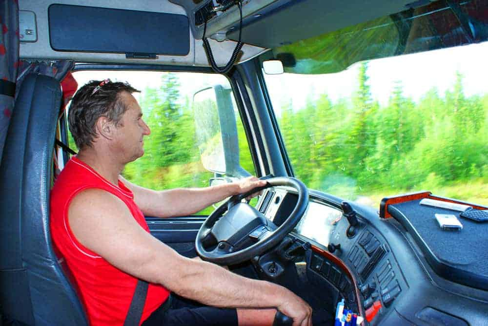 Driver-in-truck