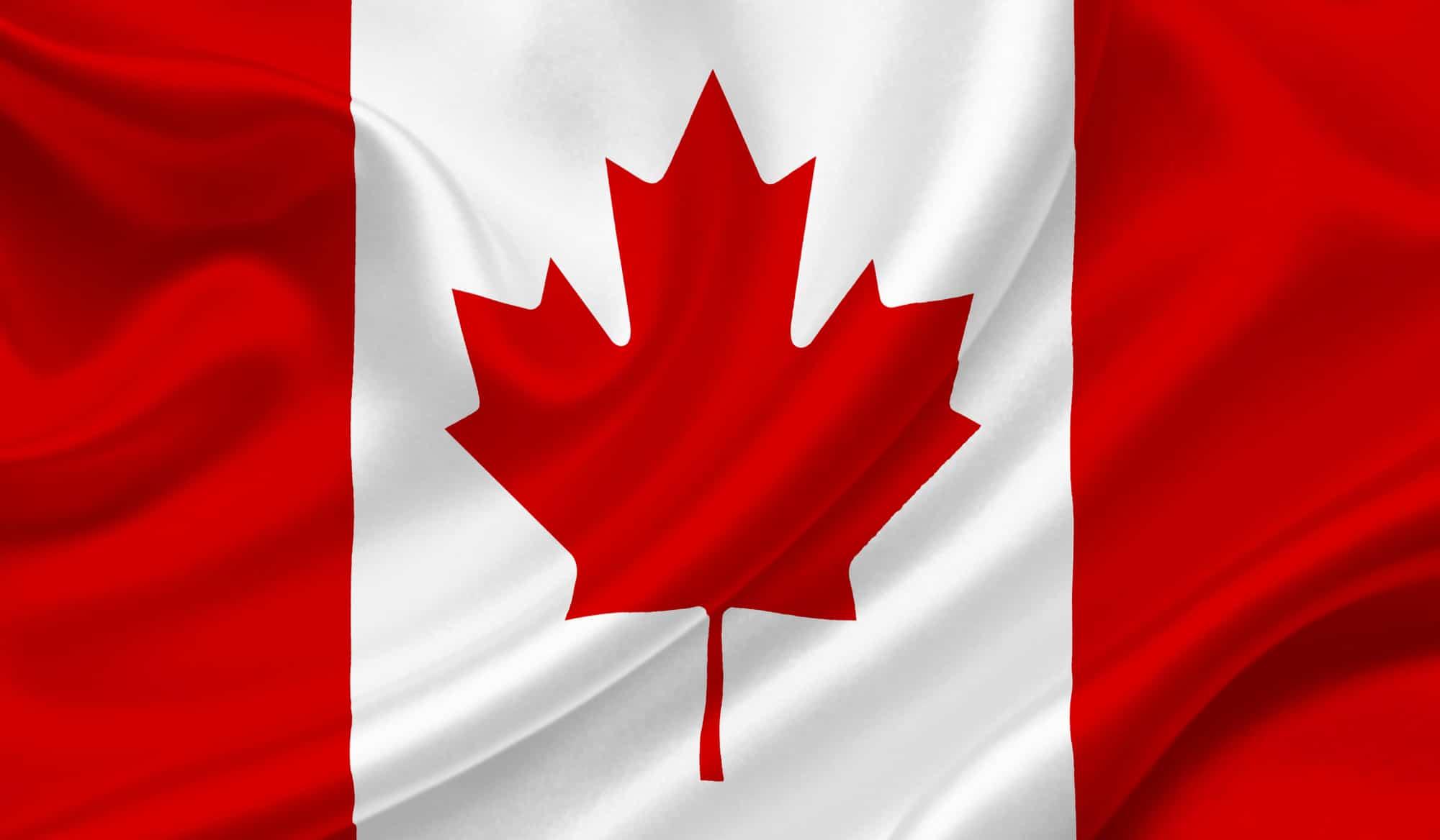 Canada waving flag