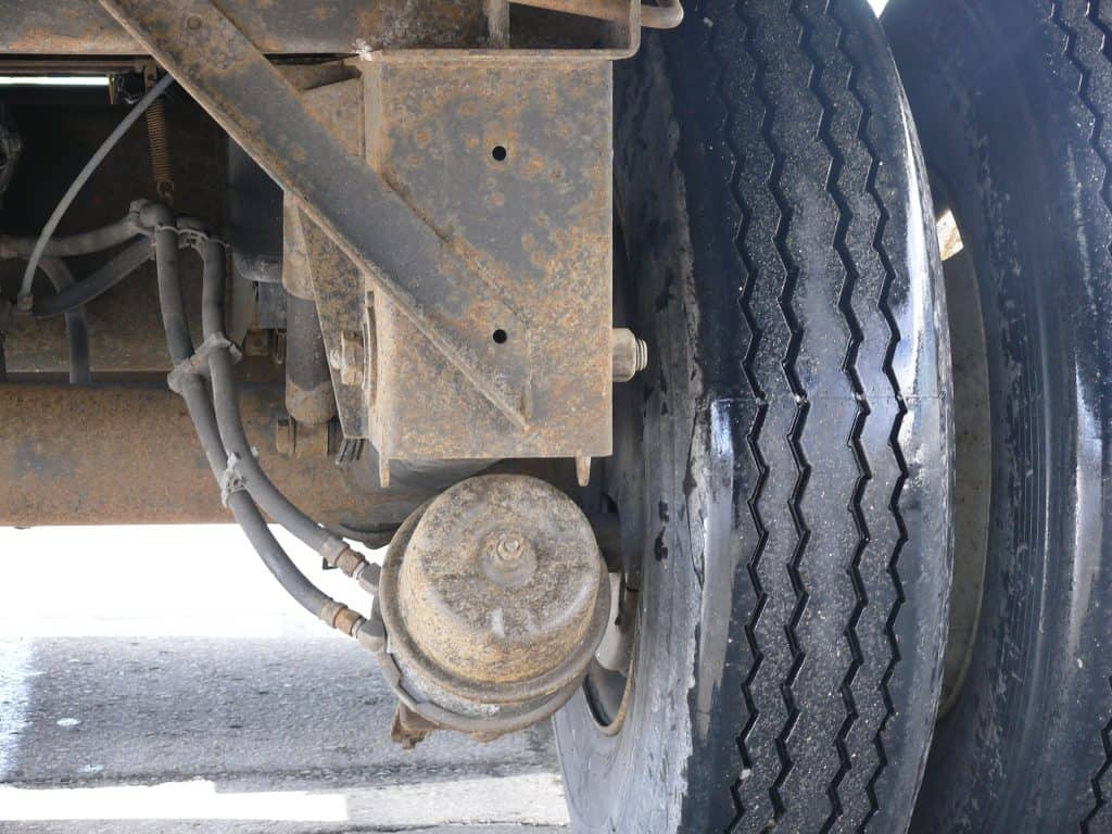 Whell and brake assembly picture
