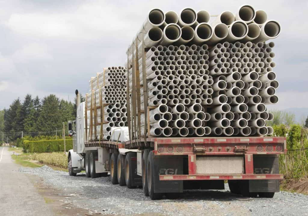 pipe truck