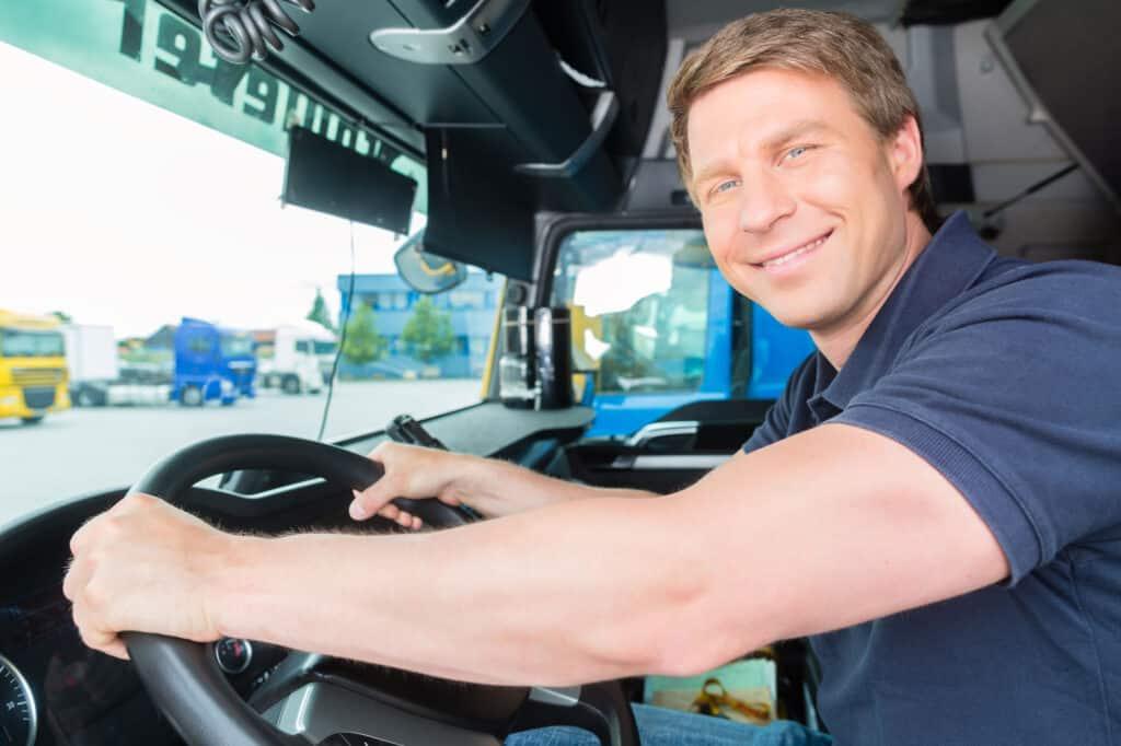 Truck-driver-in-cab