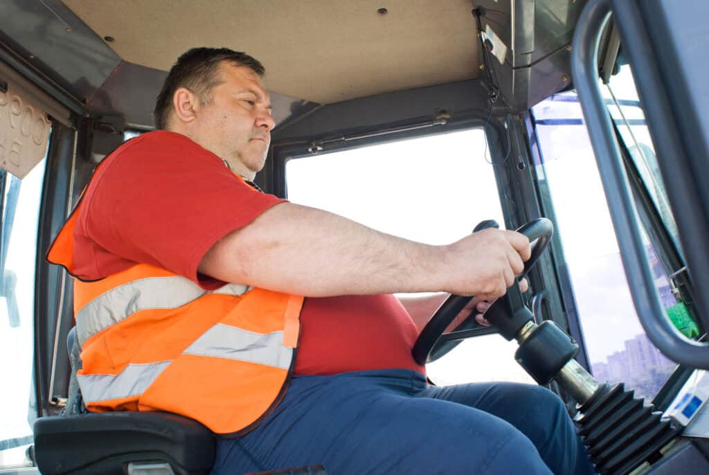 Driver-in-tractor