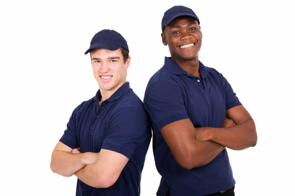 young co-workers